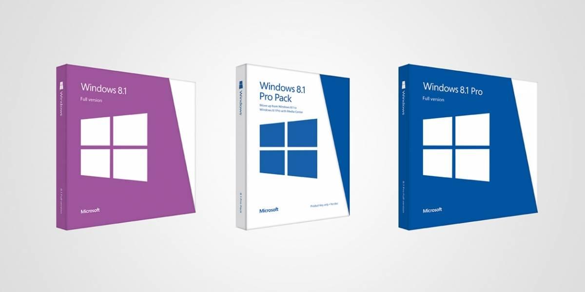 Precios oficiales de Windows 8.1