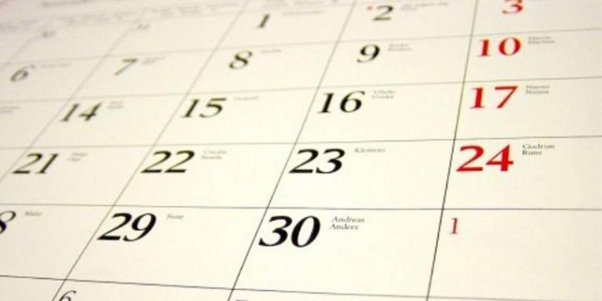 Profesores proponen calendario en que las fechas calcen con un mismo día cada año