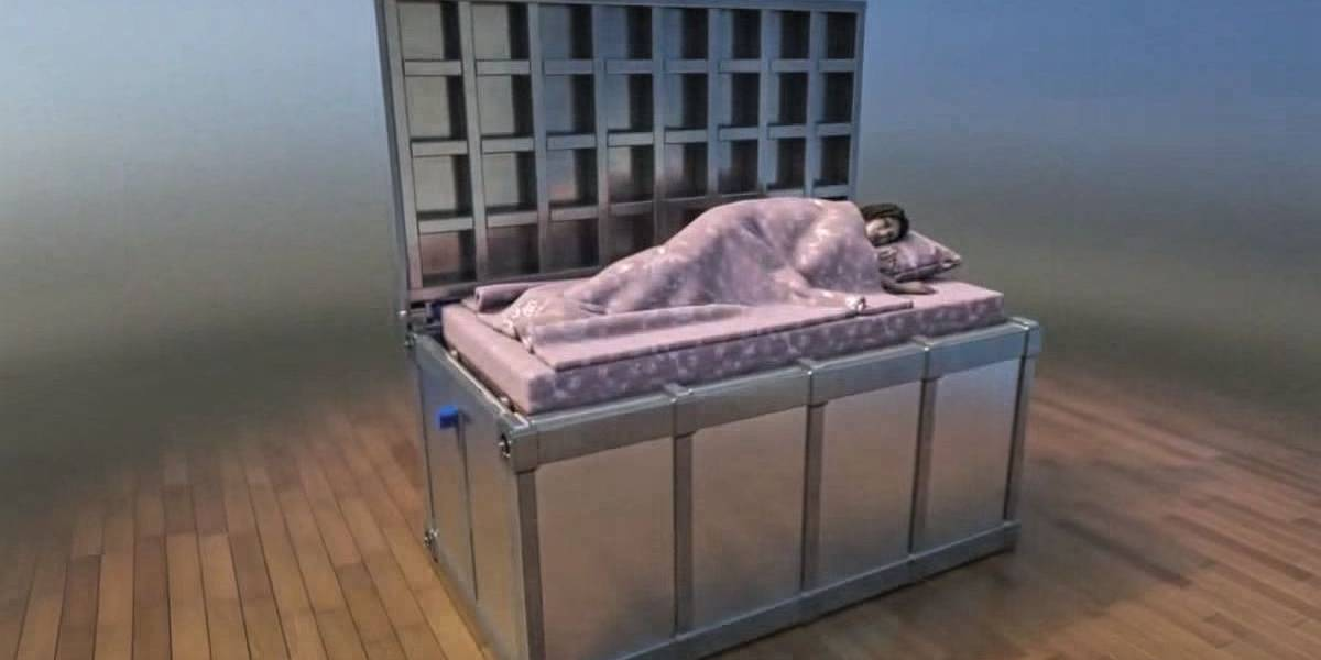 Esta cama antiterremotos no es apta para claustrofóbicos