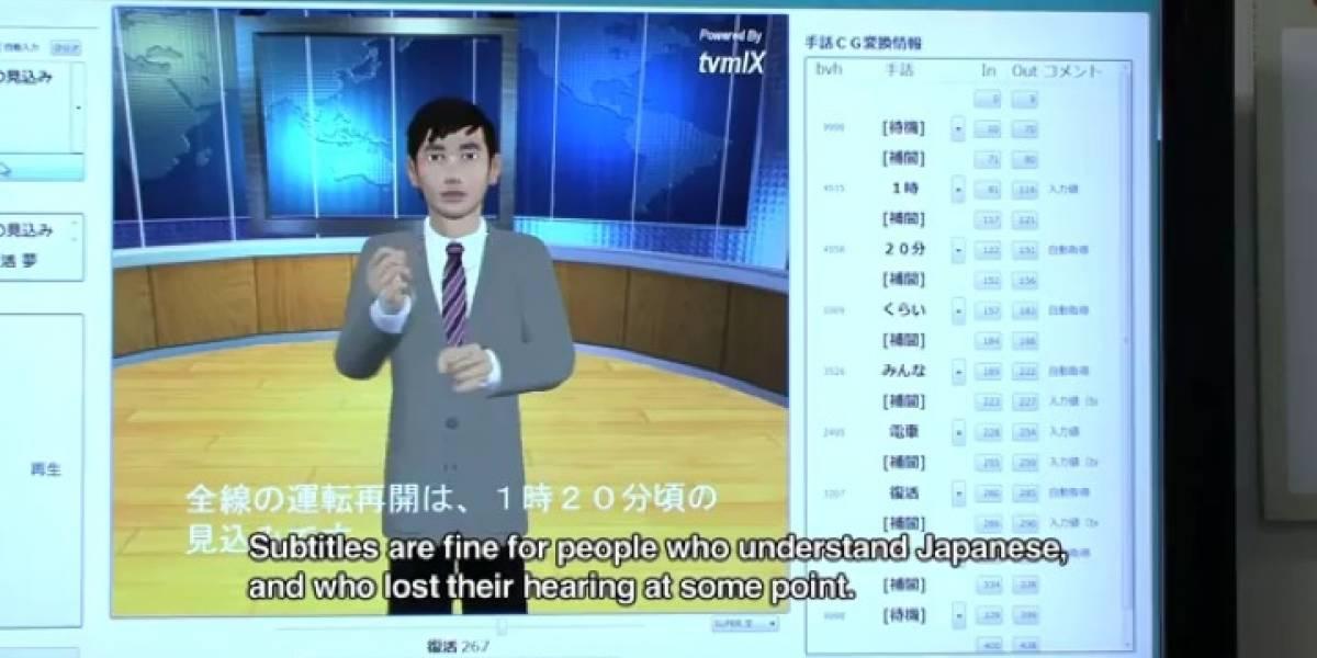 NHK desarrolla sistema automatizado de lenguaje de señas