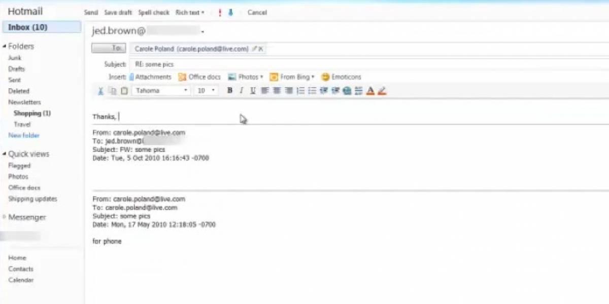 Microsoft actualiza Hotmail, quiere que se parezca más a Gmail y Yahoo Mail
