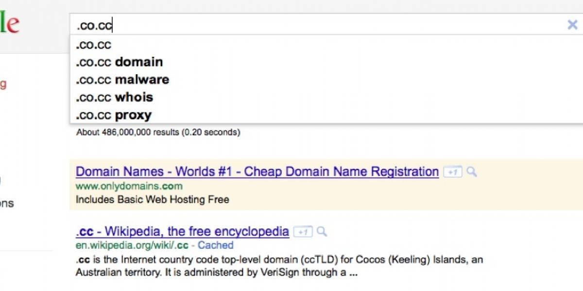 Google bloquea subdominios .co.cc de su buscador por distribuir malware