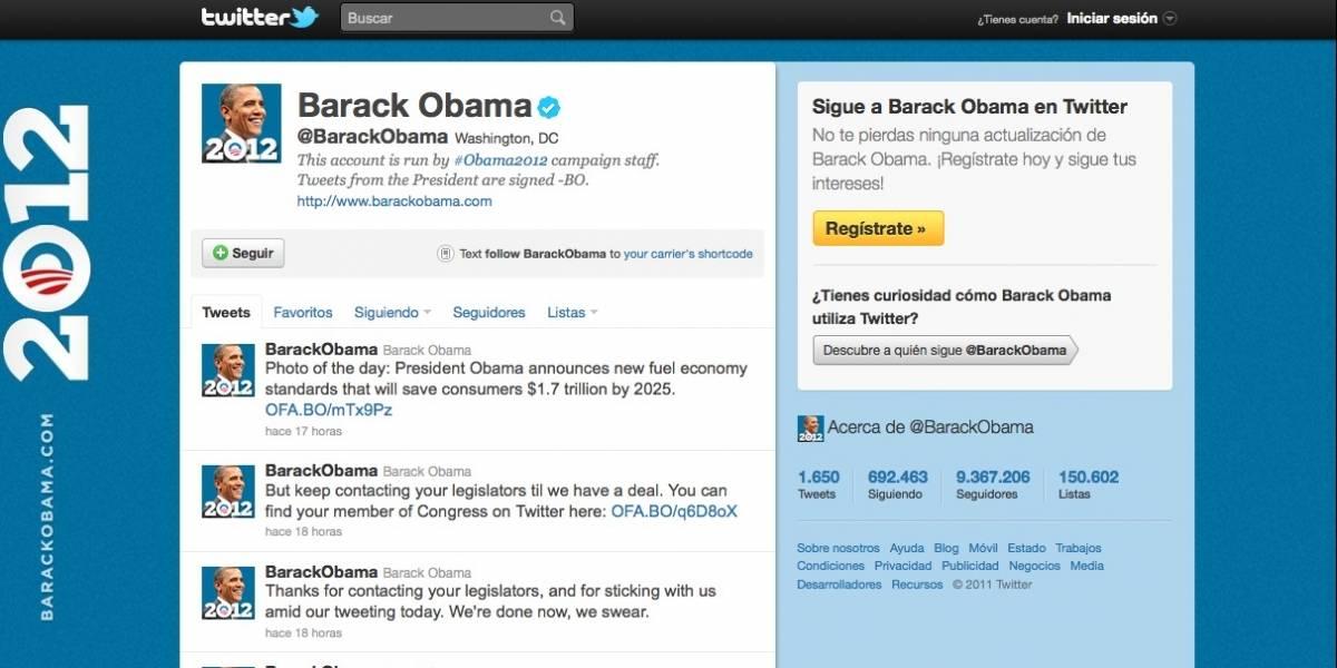 Barack Obama perdió más de 36 mil followers con su campaña para aprobar ampliación de la deuda