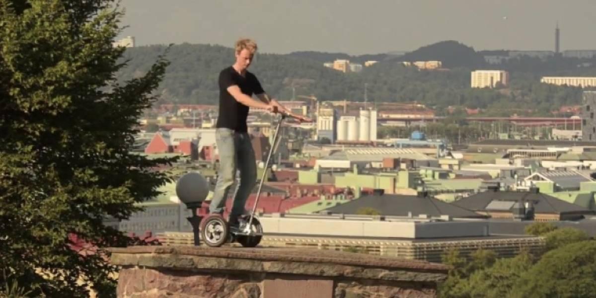 Sueco construye su propio segway