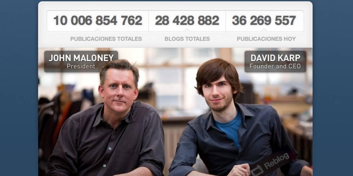 Tumblr llega a los 10 mil millones de posts