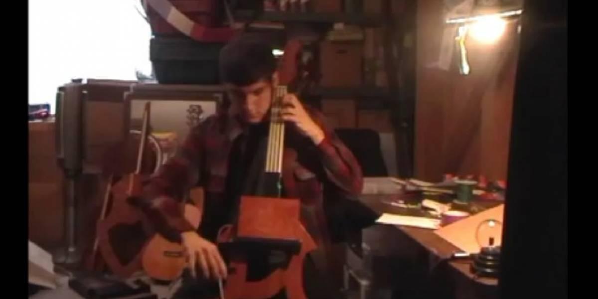 Estudiante crea un violonchelo magnético