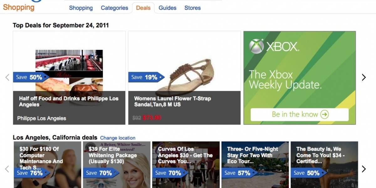 """Microsoft lanza nueva versión de """"Bing Deals"""""""