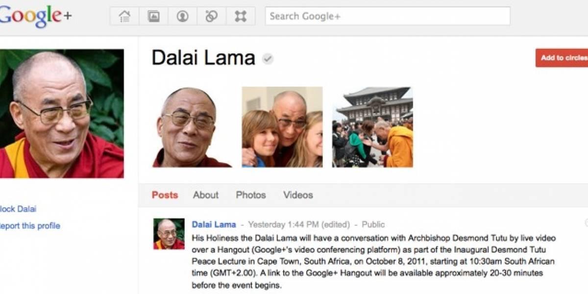 Dalai Lama entra a Google+, hace Hangout con Desmond Tutu
