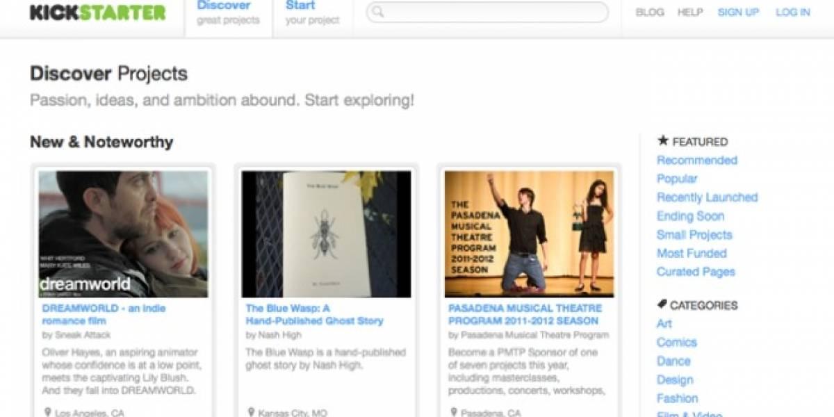 Kickstarter ha recibido US$ 100 millones en inversiones