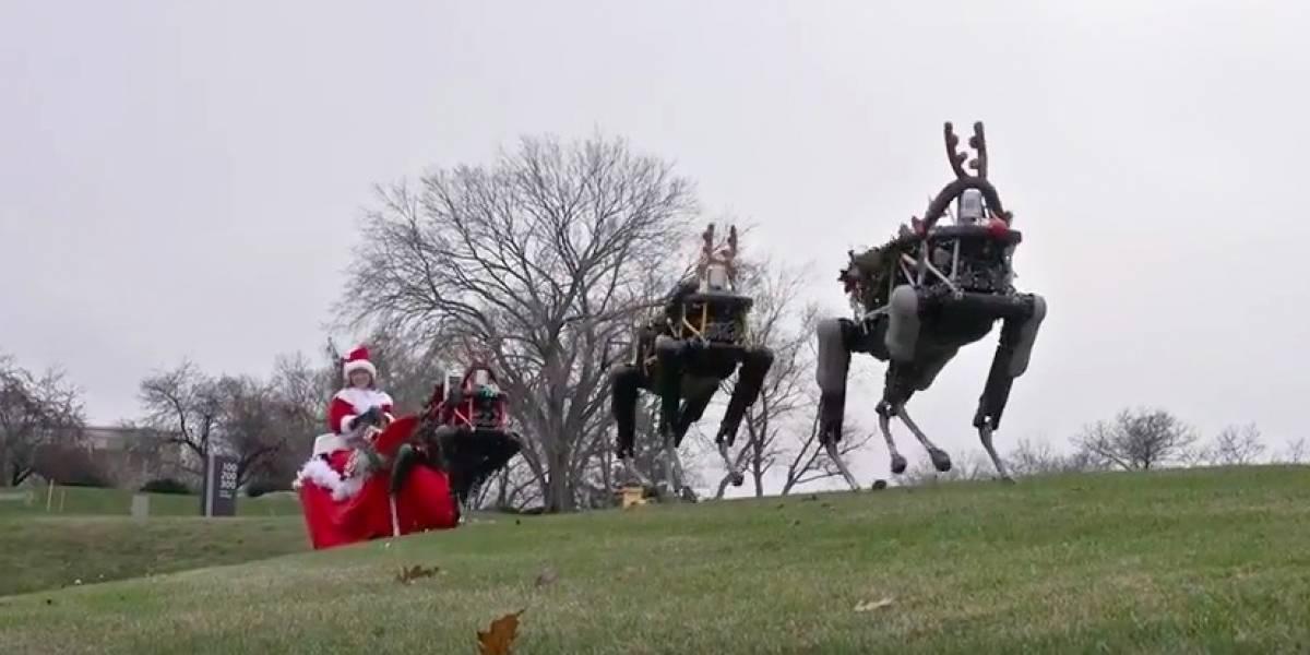 Boston Dynamics celebra la Navidad con sus robots jalando el trineo de Santa