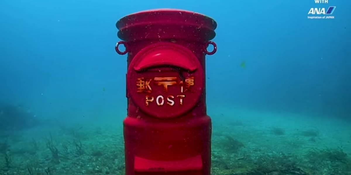 Sólo Japón puede tener un buzón a 10 metros bajo el agua y que funcione