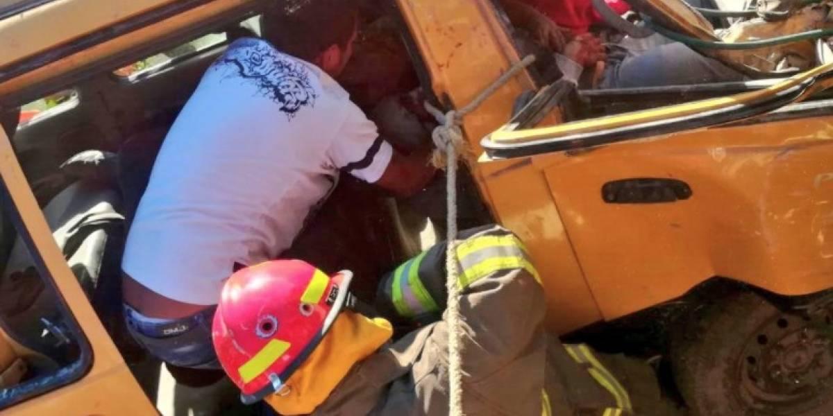 Seis heridos tras un accidente de tránsito en el sector La Forestal