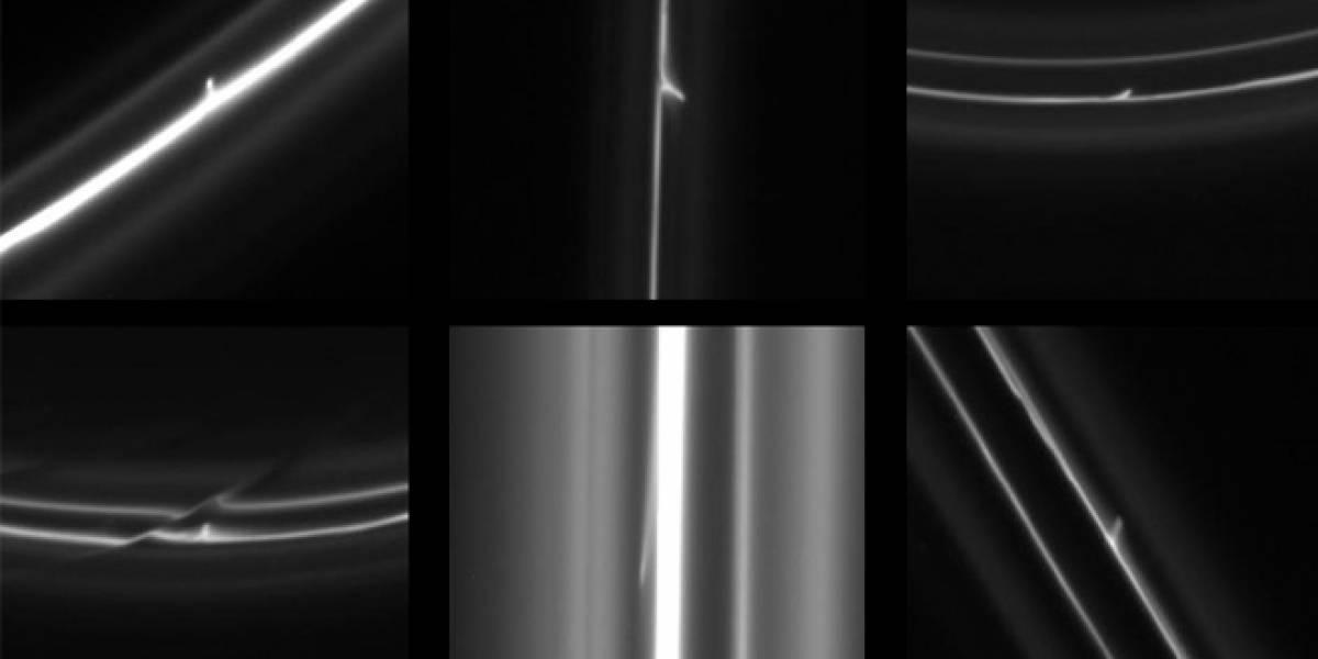 Objetos misteriosos hacen agujeros en los anillos de Saturno