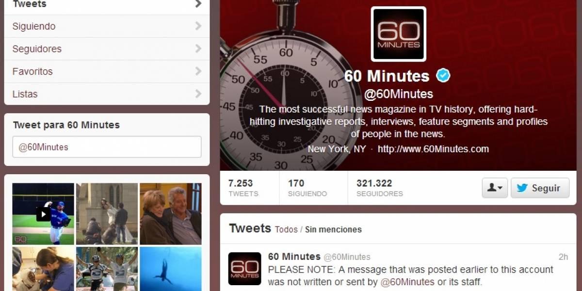 Cuentas de Twitter de la cadena CBS fueron hackeadas para difundir mensajes sobre el conflicto en Siria