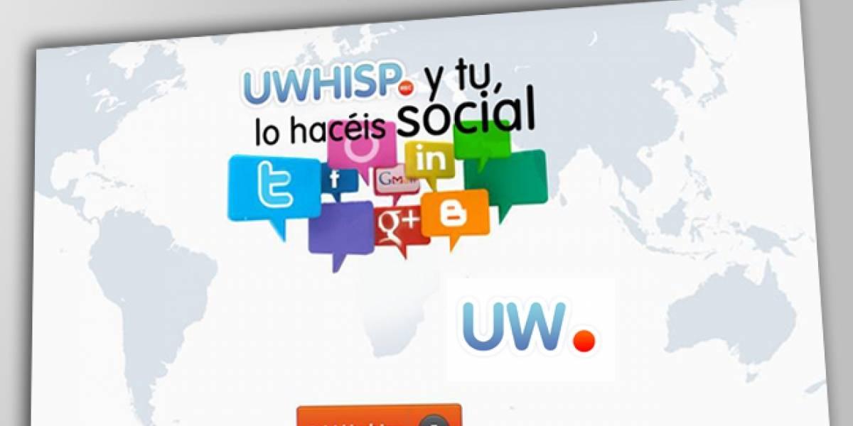 España: UWHISP, mensajes de voz en Facebook, Twitter y otras webs