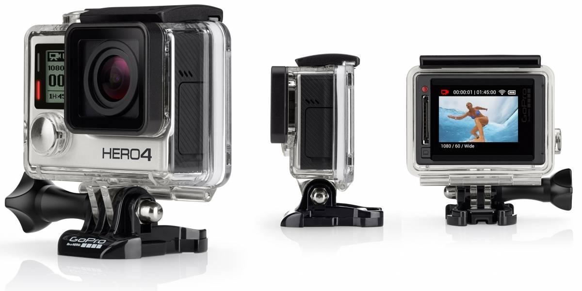 Nuevas GoPro Hero4: Un modelo tiene pantalla LCD y el otro graba en 4K a 30fps