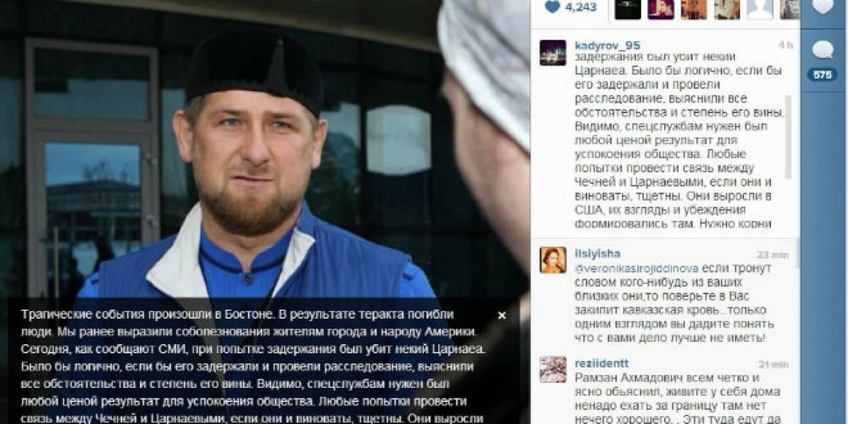 Presidente checheno usa Instagram para emitir un comunicado por las explosiones en Boston