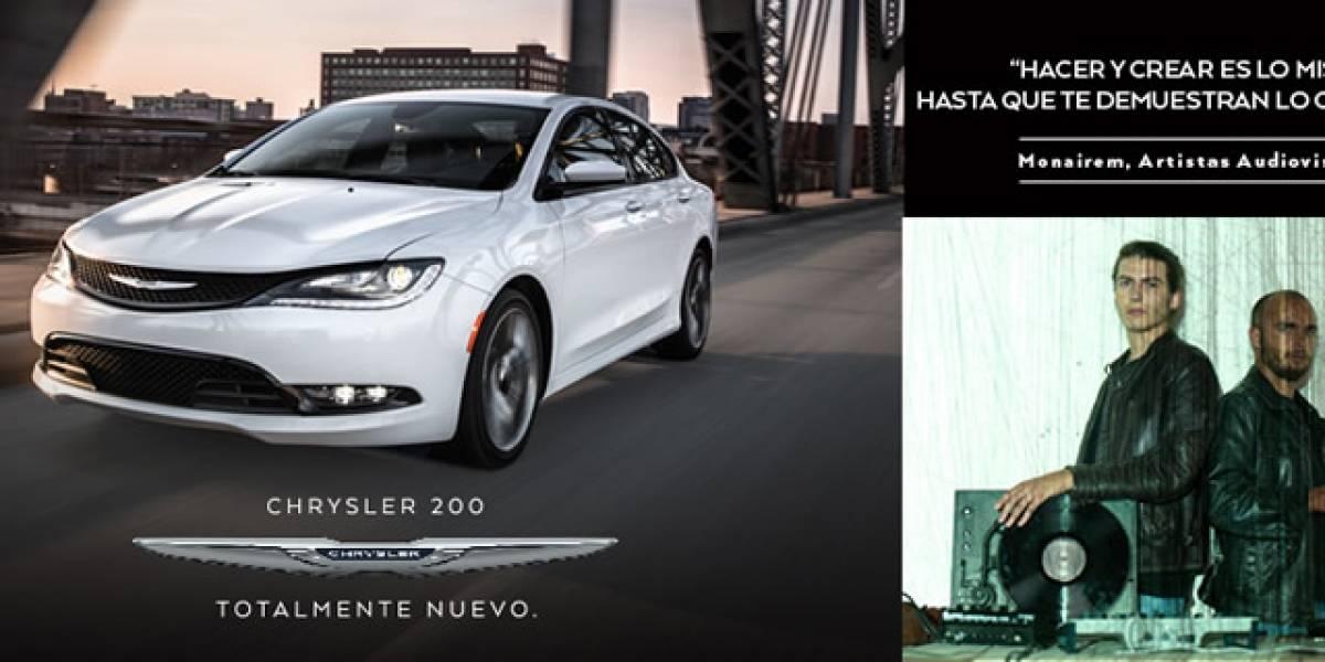 La tecnología del Nuevo Chrysler 200 es inspiración para los artistas de Monairem