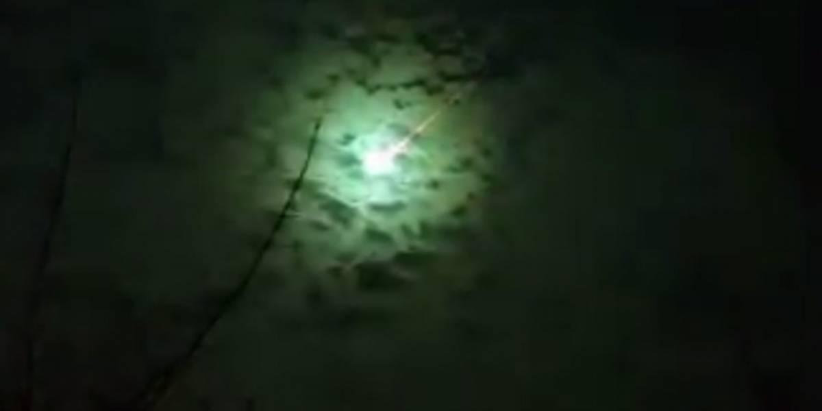 Captan en video un meteoro que cae sobre el cielo de Buenos Aires