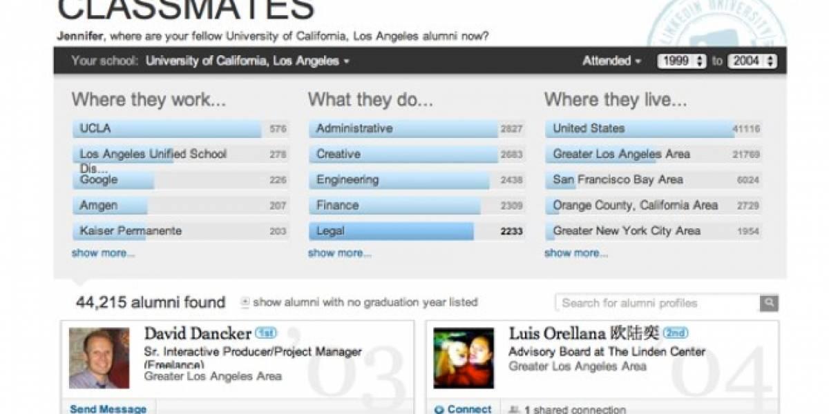 LinkedIn lanza herramienta para contactar a ex-compañeros de universidad