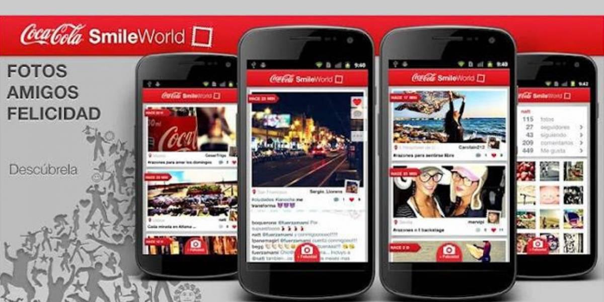 """Coca-Cola lanza su aplicación """"SmileWorld"""" para que sigas todos los detalles de la Eurocopa 2012"""