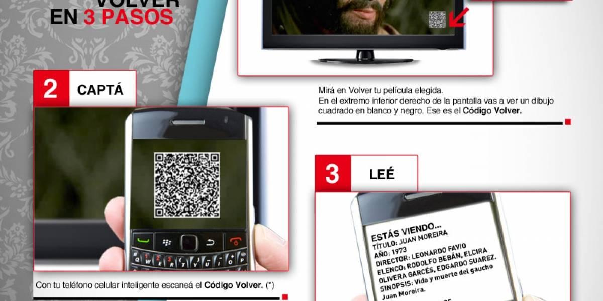 El canal argentino Volver es el primer medio regional que incorpora códigos QR en pantalla