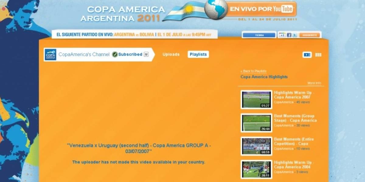 YouTube transmitirá la próxima Copa América (en algunos países)