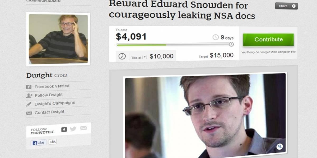 Campaña de crowdfunding busca colaborar con Edward Snowden, el soplón de la NSA