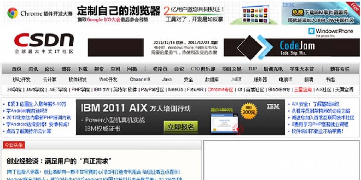 Hackean a la mayor comunidad de desarrolladores chinos