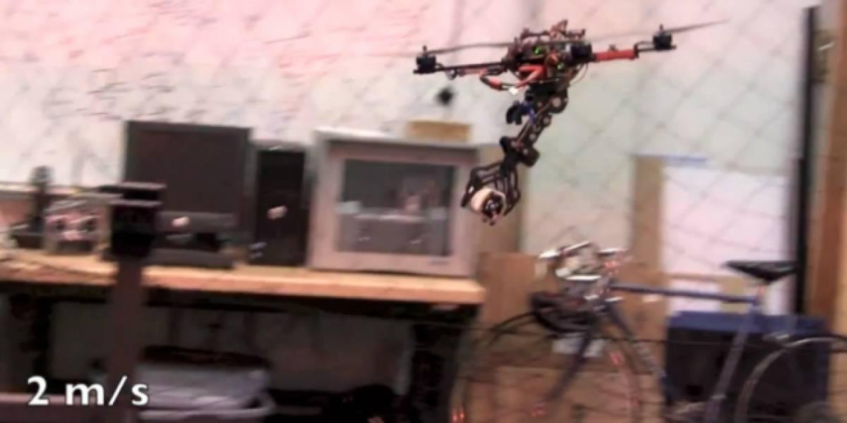 Imperdible: Cuadricóptero con garras puede hurtar objetos a alta velocidad