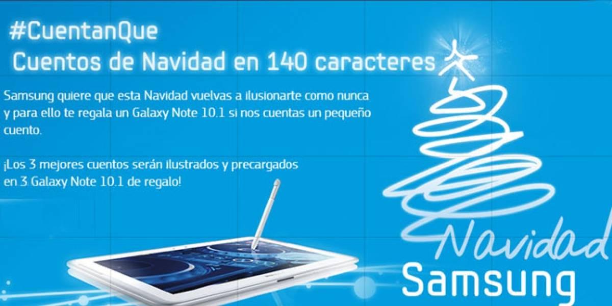 España: #CuentanQue Samsung premia los mejores tuit-relatos de Navidad con un Galaxy Note 10.1