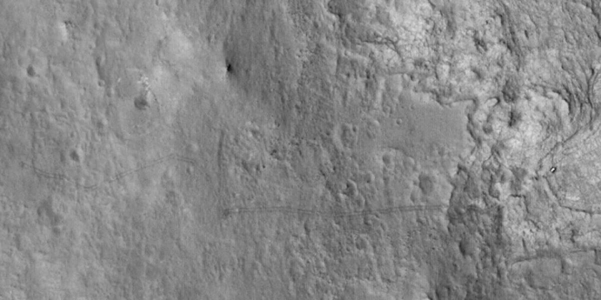 Imperdible: Las huellas del Curiosity vistas desde la órbita de Marte