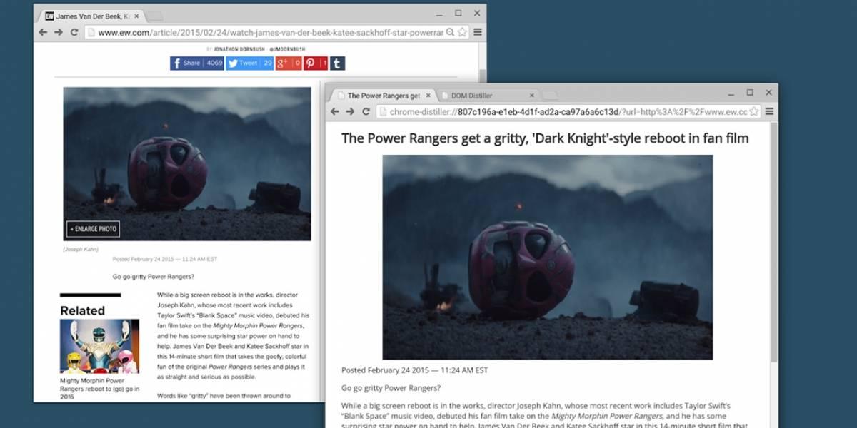 Google Chrome prepara un nuevo modo de lectura