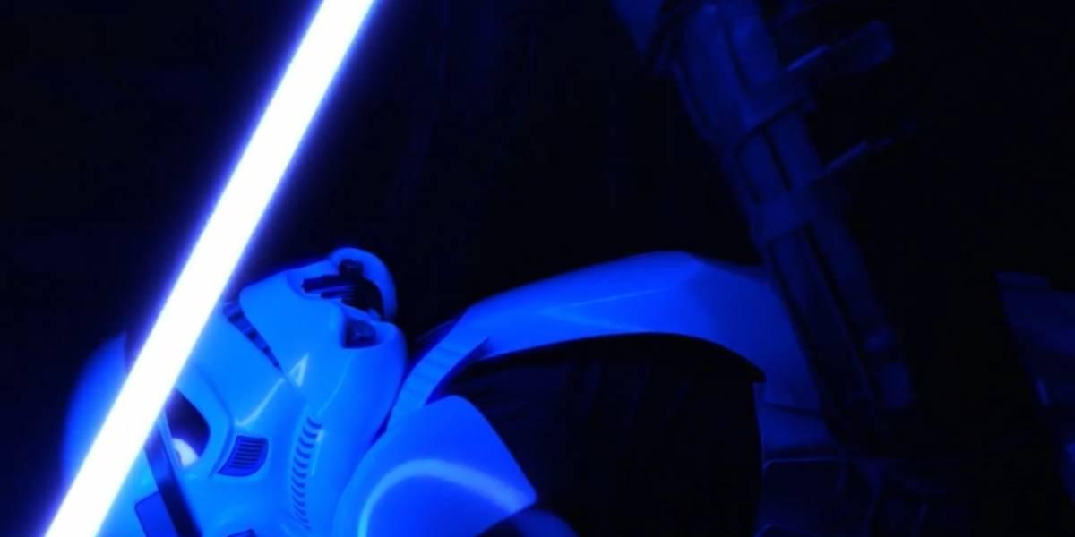 Dark Troopers, un corto de Star Wars iluminado solo por los sables láser