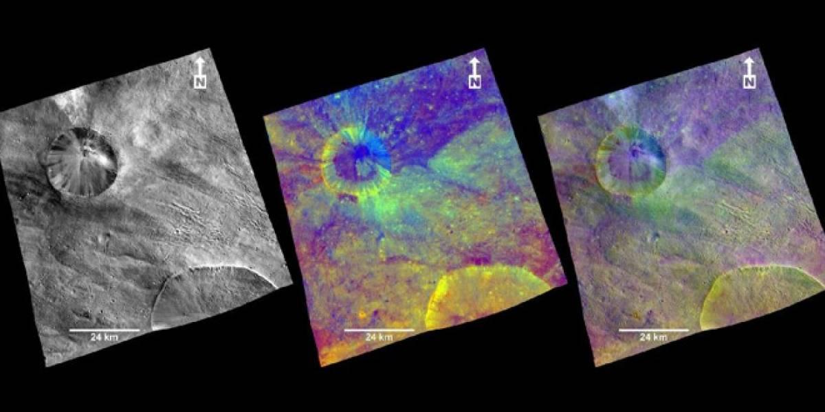 Sonda espacial Dawn revela presencia de hierro y manganeso en el asteroide Vesta
