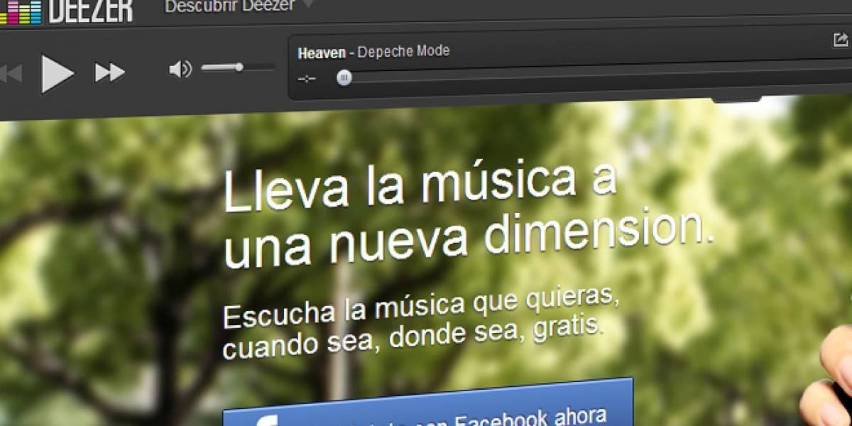 Deezer comienza a funcionar en Brasil y Venezuela