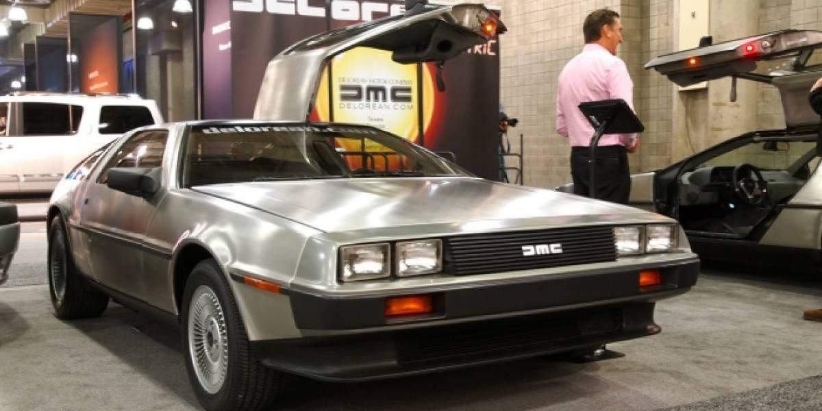 El DeLorean eléctrico se deja ver en New York