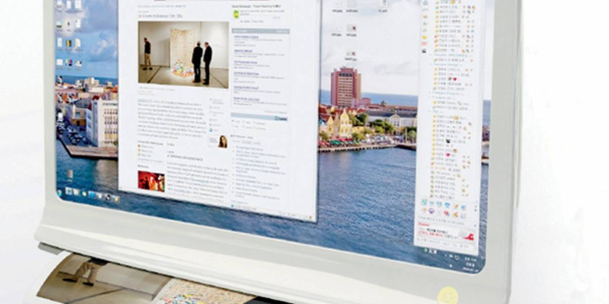 Document Extractor: un monitor multi-touch con impresora y scanner incorporados