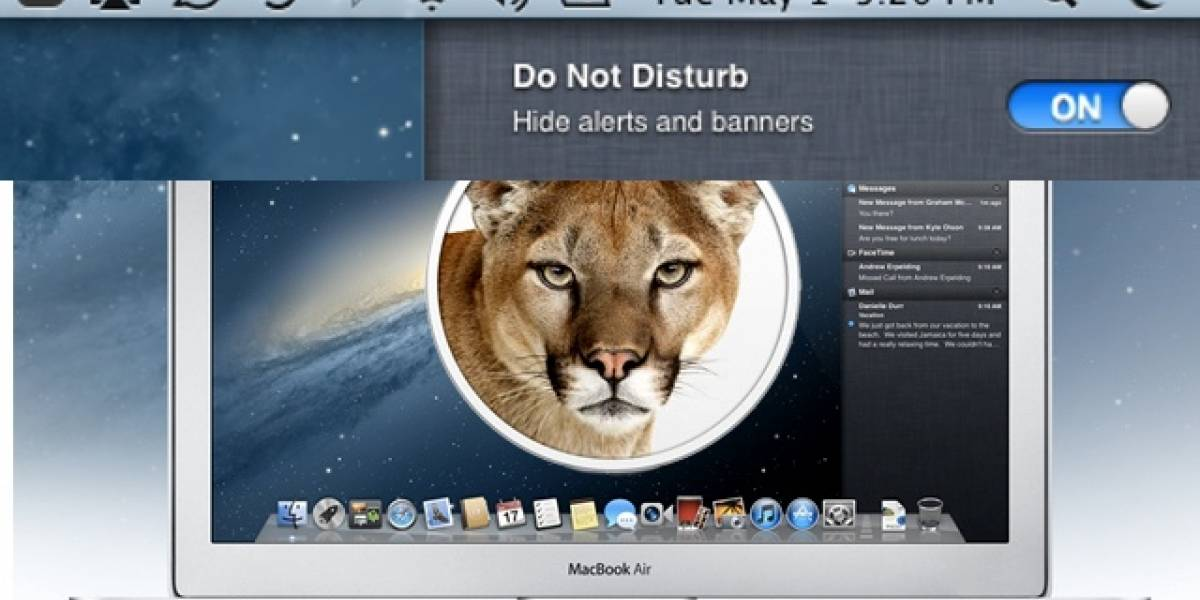 "Preview de Mac OS X Mountain Lion se actualiza e incluye nuevo modo ""no molestar"""