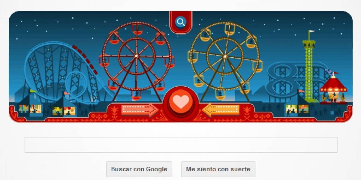 Gira la rueda de la fortuna del amor en un nuevo doodle de Google