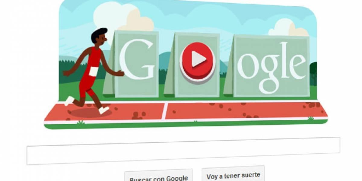 Doodle de Google nos reta con un videojuego de carrera de vallas a lo Londres2012