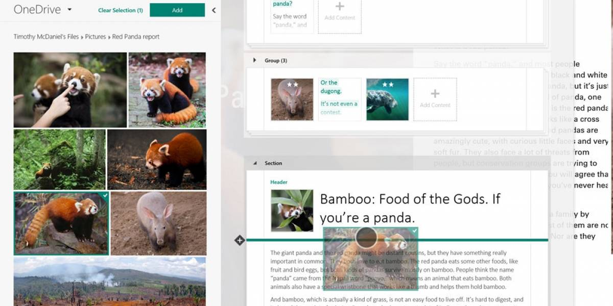 Sway es la nueva herramienta de Office para crear contenidos adaptables a cualquier pantalla