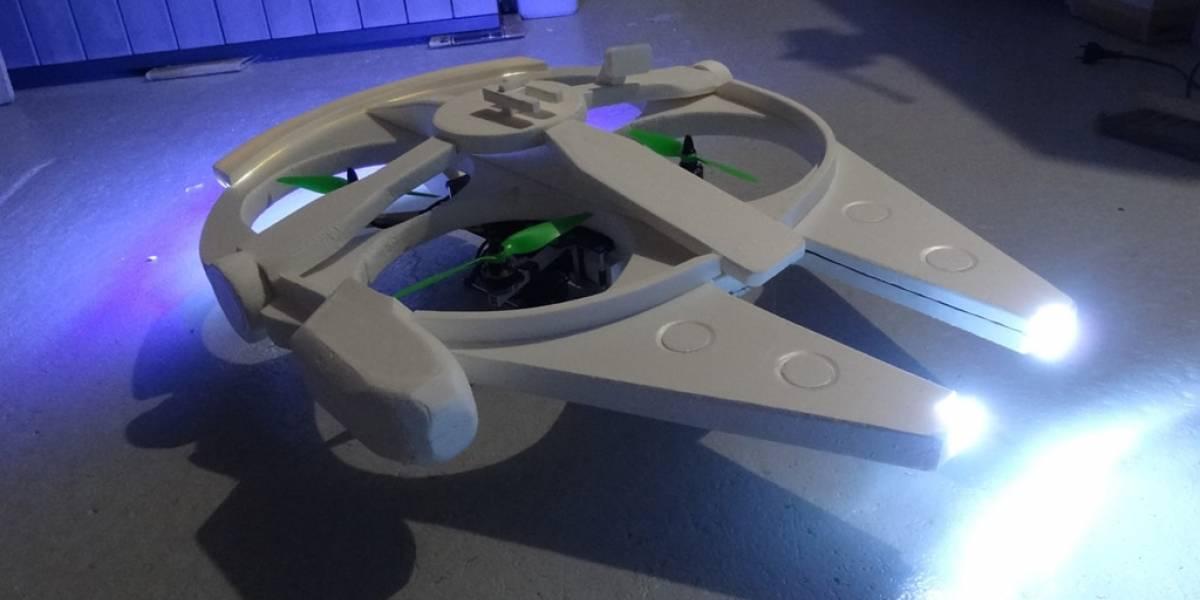 Construyen dron con forma de Halcón Milenario