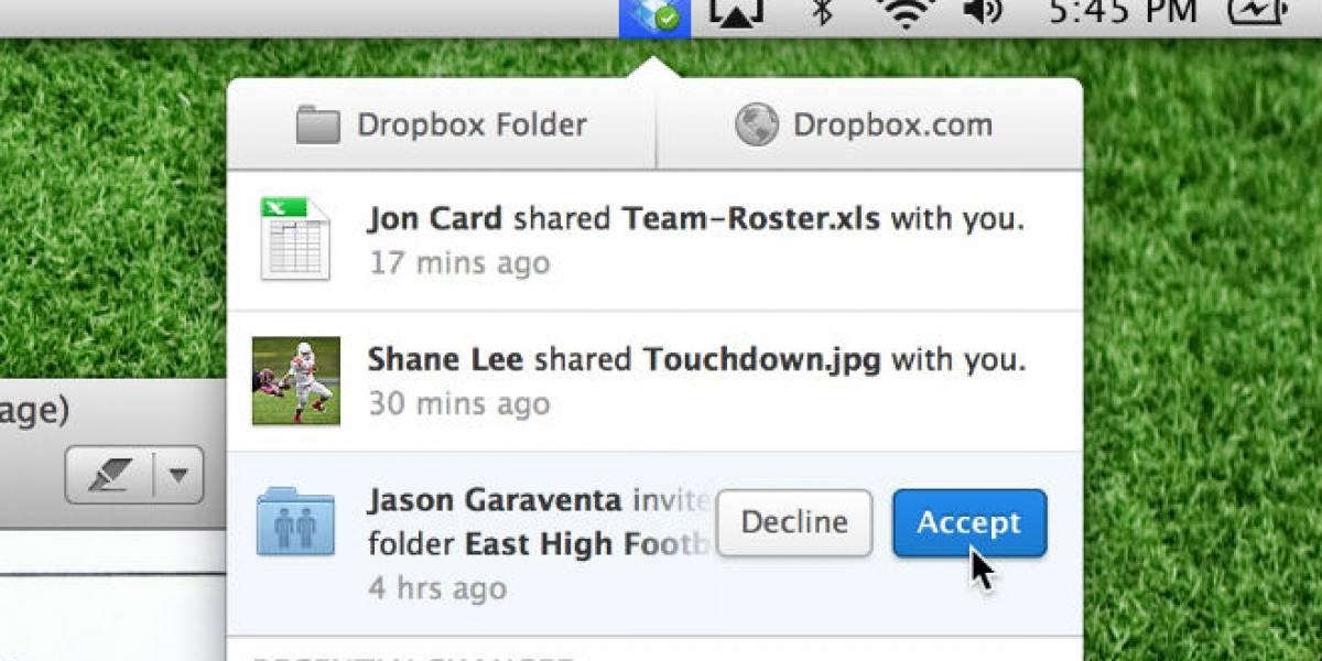 Dropbox actualiza su cliente de escritorio