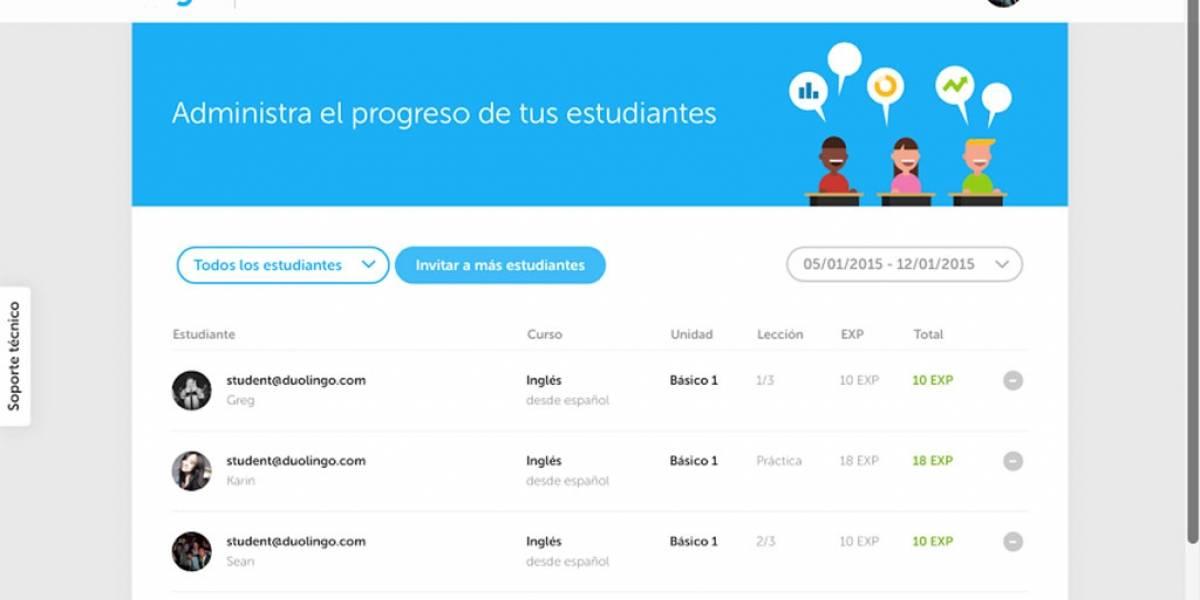 Duolingo lanza plataforma para escuelas