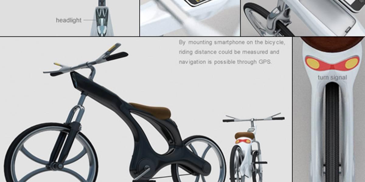 Ecodrive, una bicicleta con señalización para doblar y dock para el iPhone