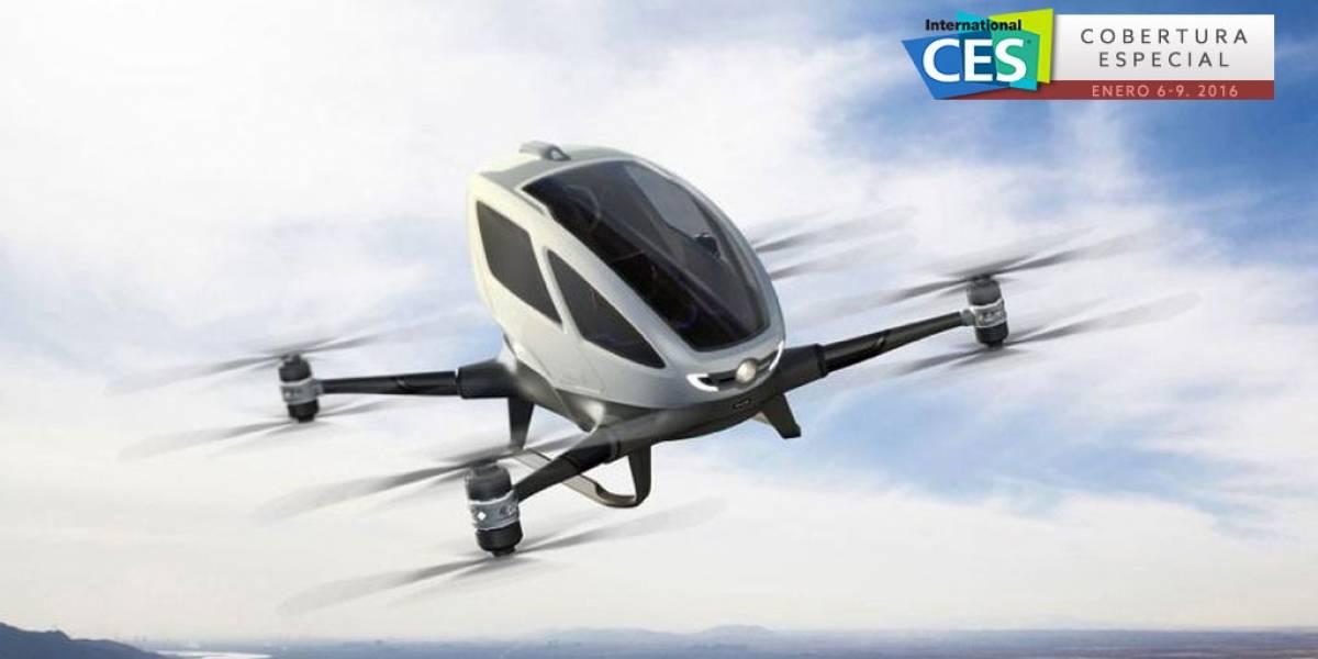Así funciona EHANG 184 el primer dron de transporte tripulado #CES2016