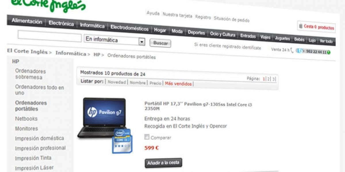 El Corte Inglés supera a eBay y Amazon en España