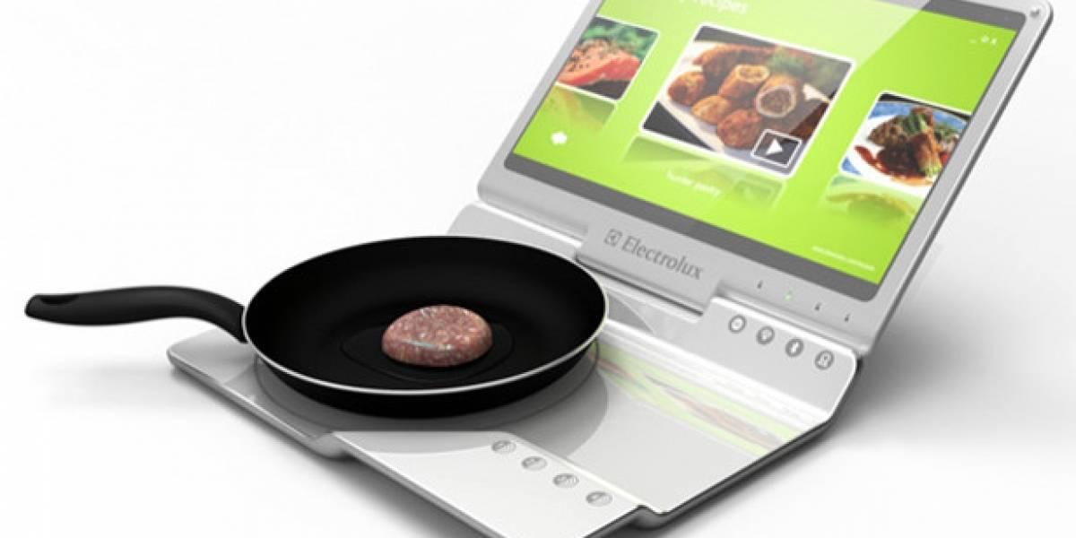 Concepto: Notebook Electrolux que calienta la comida