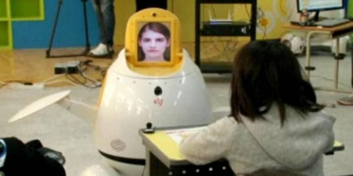 Robots hacen clases de inglés en Corea
